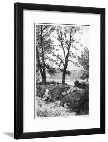 The Little Shepherds, C1930S-Birket Foster-Framed Art Print