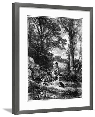 The Gleaners at the Stile, C1930S-Birket Foster-Framed Art Print