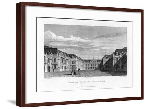 Royal Court, Palace of Versailles, Near Paris, 1829- Byrne-Framed Art Print
