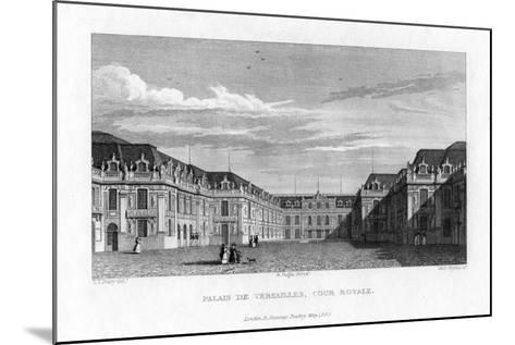 Royal Court, Palace of Versailles, Near Paris, 1829- Byrne-Mounted Giclee Print