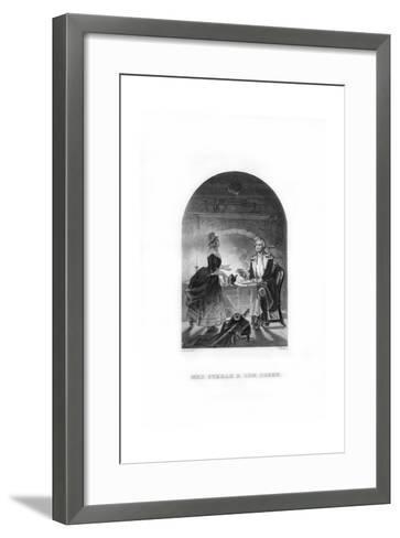 Mrs Steele and General Green, C1770s-C Burt-Framed Art Print