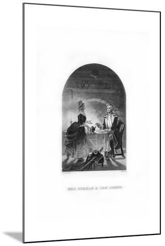 Mrs Steele and General Green, C1770s-C Burt-Mounted Giclee Print