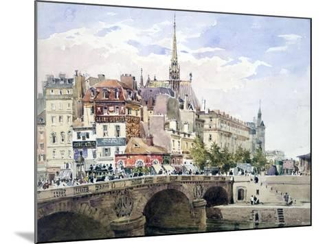 Saint-Michel Bridge, Paris, C1822-1878-Charles Claude Pyne-Mounted Giclee Print