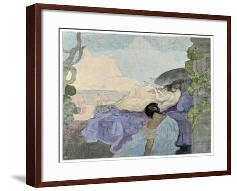 Women Relaxing by the Sea, 1898-Charles Conder-Framed Art Print