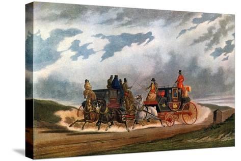 Half Way (Leeds Coac), 1837-Charles Cooper Henderson-Stretched Canvas Print