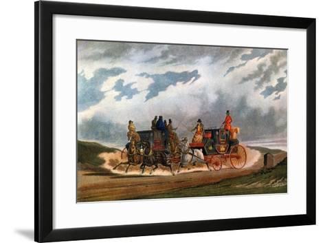 Half Way (Leeds Coac), 1837-Charles Cooper Henderson-Framed Art Print