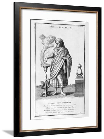 A Representation of January, 1757-Bernard De Montfaucon-Framed Art Print