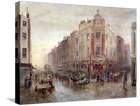 Market on a Sunday Morning at Seven Dials, Holborn, London, 1878-Bernard Evans-Stretched Canvas Print
