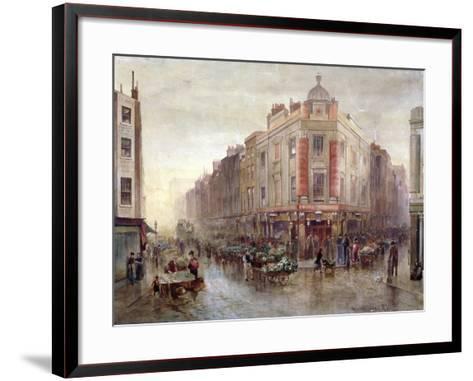 Market on a Sunday Morning at Seven Dials, Holborn, London, 1878-Bernard Evans-Framed Art Print