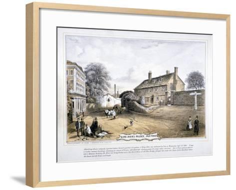 View of King John's Palace, Old Ford, Poplar, London, C1863-C Coghlan-Framed Art Print