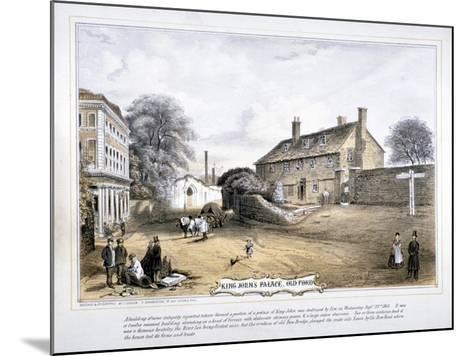 View of King John's Palace, Old Ford, Poplar, London, C1863-C Coghlan-Mounted Giclee Print
