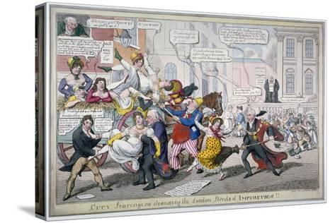City Scavengers Cleansing the London Streets of Impurities, 1816-C Williams-Stretched Canvas Print