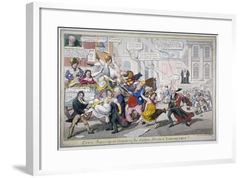City Scavengers Cleansing the London Streets of Impurities, 1816-C Williams-Framed Art Print