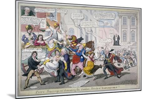 City Scavengers Cleansing the London Streets of Impurities, 1816-C Williams-Mounted Giclee Print