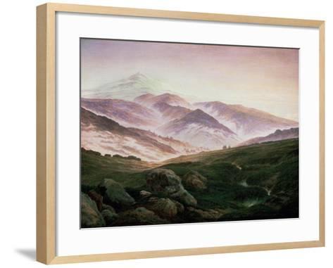 Memory of the Riesengebirge, 1835-Caspar David Friedrich-Framed Art Print