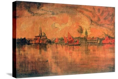 View of Venice from the Sea, C1896-Charles Cottet-Stretched Canvas Print