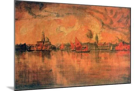 View of Venice from the Sea, C1896-Charles Cottet-Mounted Giclee Print