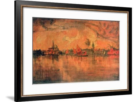 View of Venice from the Sea, C1896-Charles Cottet-Framed Art Print