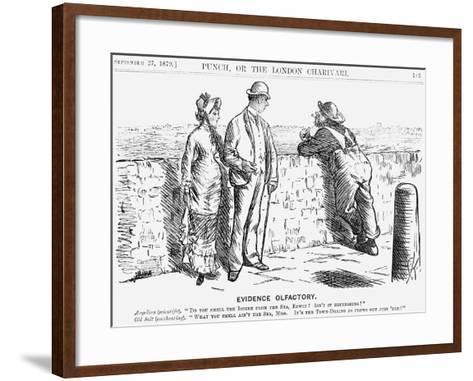 Evidence Olfactory, 1879-Charles Samuel Keene-Framed Art Print