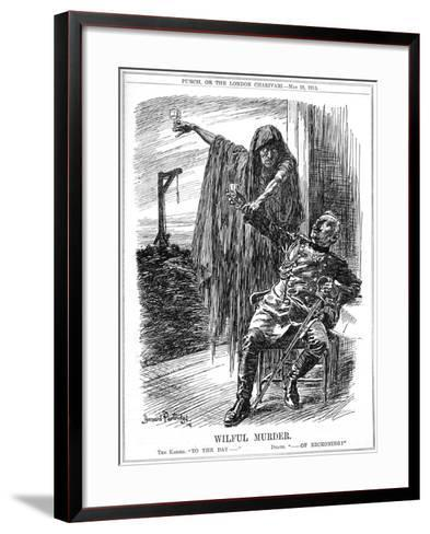 Punch Cartoon on the Sinking of the Lusitania, 1915-Bernard Partridge-Framed Art Print