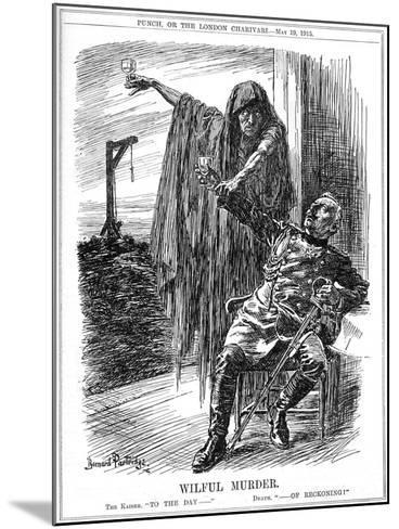 Punch Cartoon on the Sinking of the Lusitania, 1915-Bernard Partridge-Mounted Giclee Print