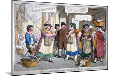 Scandal Refuted, or Billingsgate Virtue, 1818-C Williams-Mounted Giclee Print
