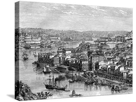 The Port of Lisbon, Portugal, 19th Century- Catenacci-Stretched Canvas Print