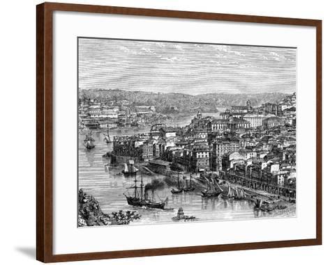 The Port of Lisbon, Portugal, 19th Century- Catenacci-Framed Art Print