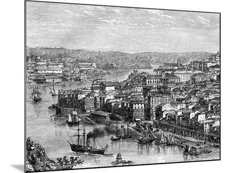 The Port of Lisbon, Portugal, 19th Century- Catenacci-Mounted Giclee Print