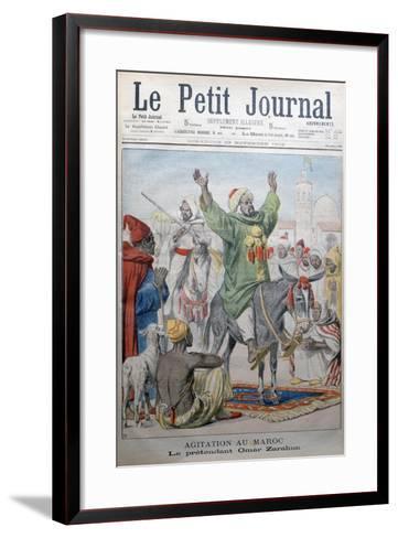 Agitation in Morrocco: Omar Zarahun Preaching Revolt, 1902-Charles Dufresne-Framed Art Print
