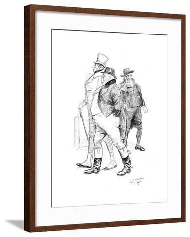 Men in 19th-Century Dress, 1901-Charles Edmond Brock-Framed Art Print