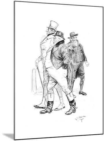 Men in 19th-Century Dress, 1901-Charles Edmond Brock-Mounted Giclee Print