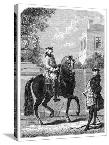 The Riding Lesson- Bonnardot-Stretched Canvas Print