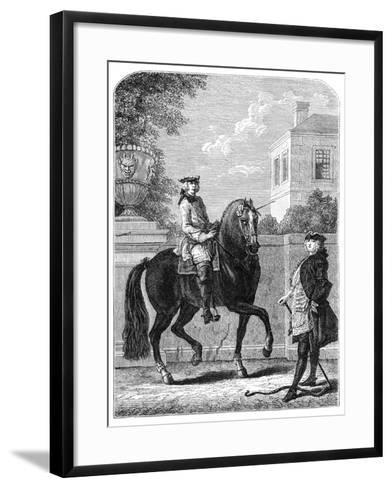 The Riding Lesson- Bonnardot-Framed Art Print