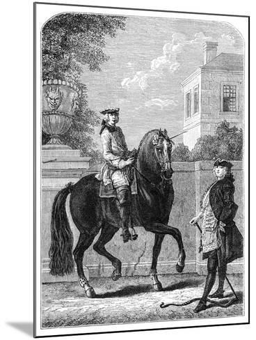 The Riding Lesson- Bonnardot-Mounted Giclee Print