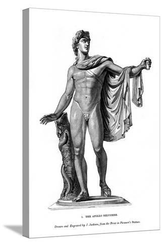 The Apollo Belvidere, 1843- Calamis-Stretched Canvas Print