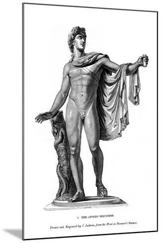 The Apollo Belvidere, 1843- Calamis-Mounted Giclee Print