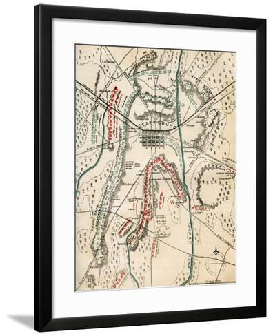 Map of the Battle of Gettysburg, Pennsylvania, 1-3 July 1863 (1862-186)-Charles Sholl-Framed Art Print