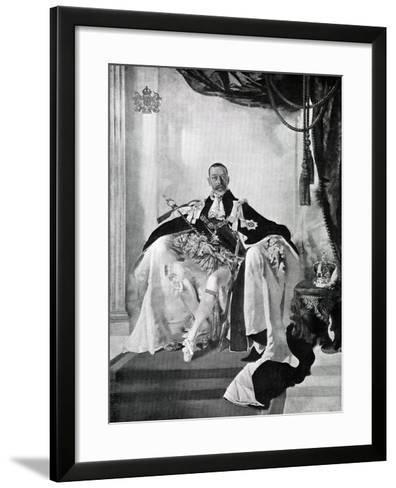 George V, 1924-Charles Sims-Framed Art Print
