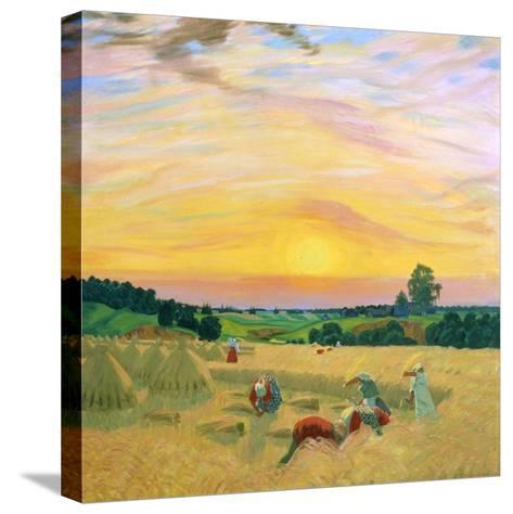 The Harvest, 1914-Boris Mikhajlovich Kustodiev-Stretched Canvas Print
