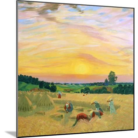 The Harvest, 1914-Boris Mikhajlovich Kustodiev-Mounted Giclee Print