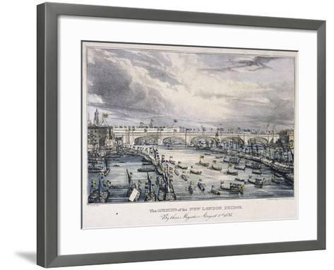 London Bridge, London, 1831-Charles Etienne Pierre Motte-Framed Art Print