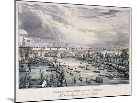 London Bridge, London, 1831-Charles Etienne Pierre Motte-Mounted Giclee Print