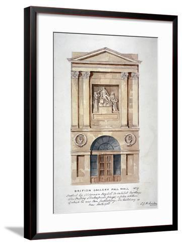 View of the Entrance to the British Institution, Pall Mall, Westminster, London, 1819-Charles James Richardson-Framed Art Print