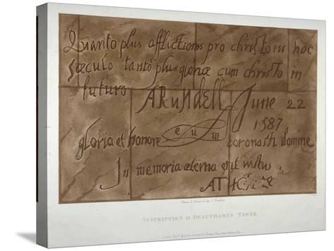 Inscription in Latin by Philip Howard, Earl of Arundel, 1587-Charles Tomkins-Stretched Canvas Print