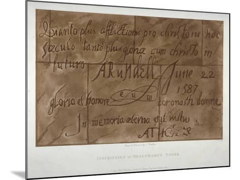 Inscription in Latin by Philip Howard, Earl of Arundel, 1587-Charles Tomkins-Mounted Giclee Print