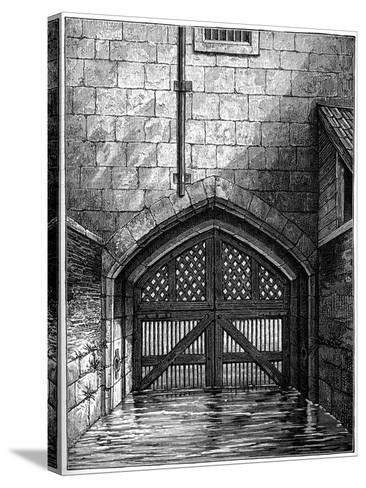 Traitors' Gate, Tower of London, 1801-Charles Tomkins-Stretched Canvas Print