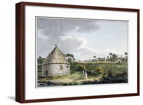 The Bayswater Conduit, with a Distant View of the Paddington Canal, London, 1801-Charles Tomkins-Framed Art Print