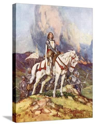 Joan of Arc, the Country Girl Who Led a King to Victory, 20th Century-C Dudley Tennant-Stretched Canvas Print