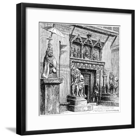 Hanuman Gate of the Royal Palace, Kathmandu, Nepal, 1895-C Goutzwiller-Framed Art Print